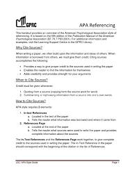 Apa Referencing Citation Apa Style