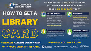 We did not find results for: Sign Up For A Library Card During Nlw21 Fulton County Library System