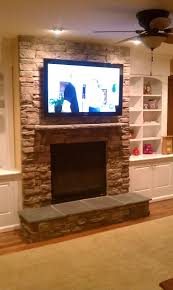 Living Room With Fireplace And Tv Decorating Over Fireplace Tv Installation Stone Decorating My House One