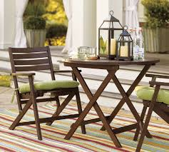 ... Dark Brown Round Contemporary Wooden Small Space Patio Furniture  Varnished Ideas For Patio Table ...
