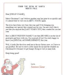 Free Letter From Santa Word Template Free Printable Letter From Santa Template Word Collection