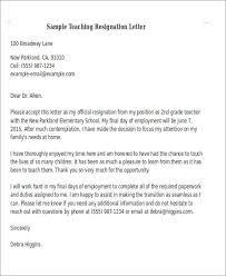 7 Sample Teaching Resignation Letters Free Sample Example