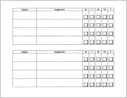 Homework Chart Template For Teachers Homework Tips That Really Work For Teachers Parents And
