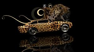 aston martin db4 fantasy leopard car