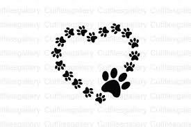 Get crafting with this exclusively designed lovesvg freebie. Paw Heart Graphic By Cutfilesgallery Creative Fabrica