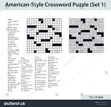 blank crossword puzzle grids printable americanstyle crossword puzzle 15 x 15 stock vector royalty free
