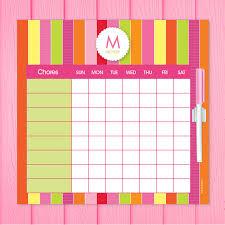 Chore Lists For Teens Bold Fun Stripes Chore Chart