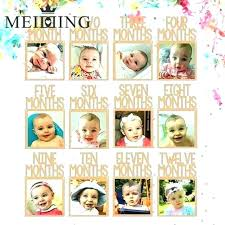 baby photo frames months month frame 1 birthday banner string flag each 12 0 app month baby frame