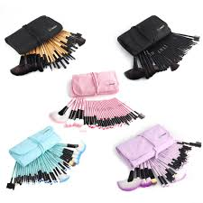 vander 32pcs makeup brushes set professional cosmetics brush eyebrow foundation shadows kabuki make up tools kits pouch bag