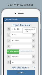 Paycheck Calculator 2015 Payroll Calculator Canada On The App Store