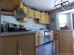 Paint Backsplash Interesting Painted Subway Tile Backsplash Remodelaholic