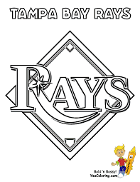 Baseball Coloring Pages Tampa Bay Rays