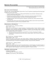 Sample resume for a truck driver