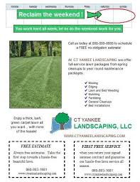 Lawn Care Flyers Examples Spring Lawn Care Postcard And Flyer Sample