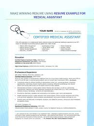 Certified Medical Assistant Resume Stunning Executive Assistant Resume Examples Certified Medical Assistant