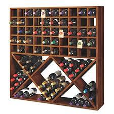 100 bottle wine rack. Jumbo Bin Grid 100 Bottle Wine Rack Walnut Inside