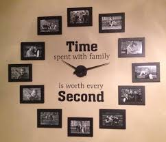 view in gallery family photo wall clock wonderfuldiy4 wonderful diy family photo wall clock