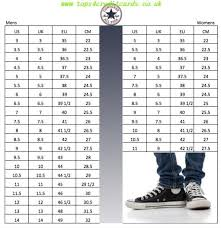 Chucks Converse Size Chart Converse Shoes Womens Size Chart Tops4creditcards Co Uk