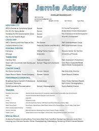 Jamie Askey Dance Resume