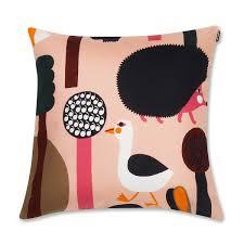 Marimekko Kontio Pink Throw Pillow