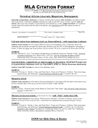 Citations In Essay Writing Research Papers Using Mla Documentation Mla Format Example