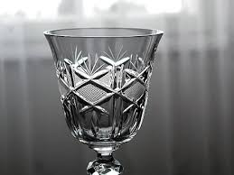 a piece of crystal glassware