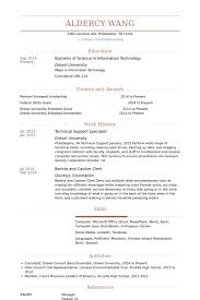 Technical Support Specialist Resume Samples Visualcv Resume