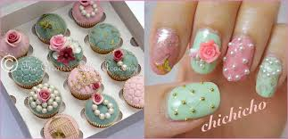 The Creative Cake Academy: VINTAGE CUPCAKES AND NAIL ART DESIGN!!!!!