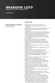 Network Consultant Resume Samples Visualcv Resume Samples Database