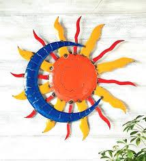 outdoor metal wall art moon sun full size of and together with garden outdoor metal wall art