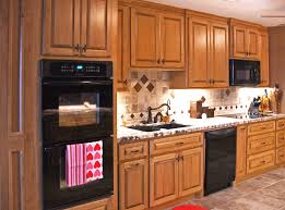 beech wood kitchen cabinets: beech cabinetry pecan stain finish on wood kitchens