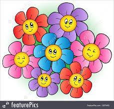 picture of cartoon flowers. Perfect Cartoon Flowers Group Of Cartoon Flowers  Vector Illustration To Picture Of Cartoon Flowers N