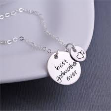Georgie Designs Handcrafted Artisan Jewelry Amazon Com Silver Best Godmother Ever Necklace Godmother