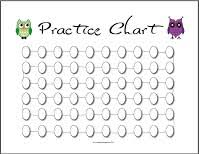 Printable Practice Charts 50 99 Times The Practice Shoppe