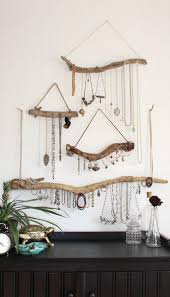 diy boho decor new driftwood jewelry organizer made to order custom jewelry storage