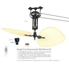 belt driven ceiling fans single long neck drive casablanca fan parts