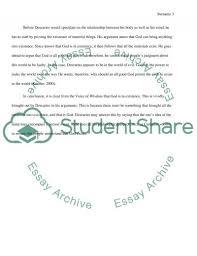 how does descartes prove that god exists essay example topics text
