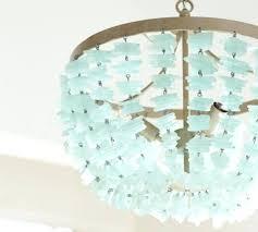 turquoise light fixture room glamorous turquoise blue crystal 4 light