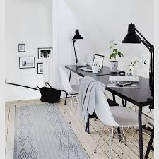 black and white office decor. Office, Desk, Black White Chairs, Office Inspiration, Home, Style And Decor