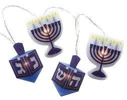Light Up Hanukkah Necklace Battery Operated Chanukah Hologram Light Set