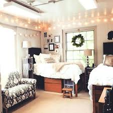 bedroom decoration college. Perfect Bedroom College Dorm Ideas Room White Minimal Theme Inspiration Lights Chic  Feminine For Bedroom Decor Student And Decoration