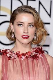 golden globes 2016 celebrity hairstyles makeup amber heard