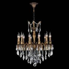 worldwide lighting corp versailles 12 light antique bronze finish with clear crystals chandelier