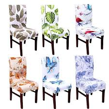 astounding plants animal printed chair cover elegant flowers erfly spandex stretch chair case seat slipcover for