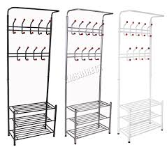 Coat Hanger And Shoe Rack White Wooden Entryway Storage Bench With Shoe Rack And Coat Hanger 79