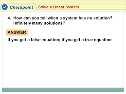how can you tell when a system has no solution