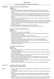 It Systems Administrator Resume Samples Velvet Jobs