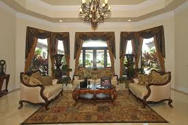 Marble Floors For Traditional Living Room With Beautiful Curtains Traditional Living Room Curtains