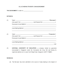 Personal Loan Forms Free Unique Student Loan Agreement Template Experiencenow