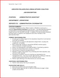 Administrative Resume Template Resume Template Example Assistant